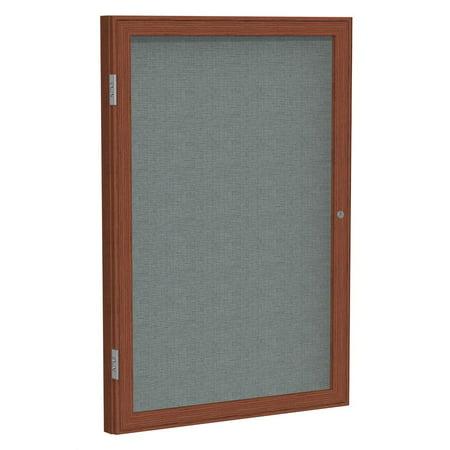 Enclosed Fabric Tackboard in Gray (18 in. W x 24 in. H)