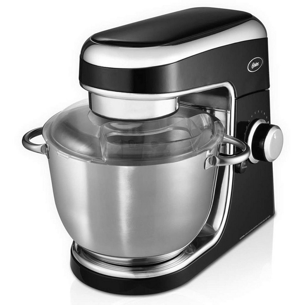 Oster 12 Speed Planetary Stand Mixer Stainless Steel, Black