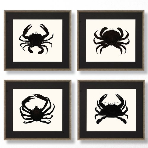 Art Virtuoso Crab Silhouette by John Torrey Framed Painting Print