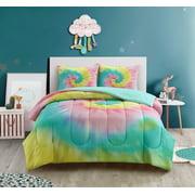 Heritage Club Tie Dye Soft 2 Piece Comforter Set, Twin/Twin XL, Multi-color
