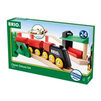 BRIO World Wooden Railway Train Set - Classic Deluxe Set - Ages 2+