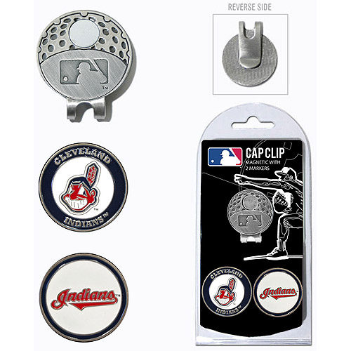 Team Golf MLB Cleveland Indians Cap Clip With 2 Golf Ball Markers