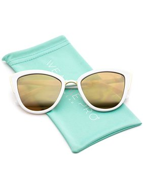 7b3055c06b395 Product Image WearMe Pro - Womens Cat Eye Mirrored Reflective Lenses  Oversized Cateyes Sunglasses