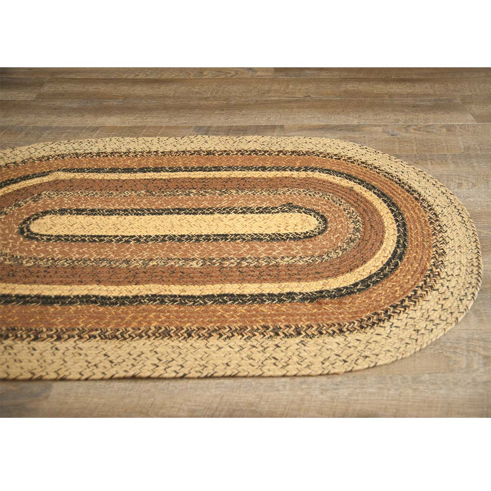 Espresso Black Brown Tan Jute Braided Rugs Oval Rectangle by Home Collections by Raghu