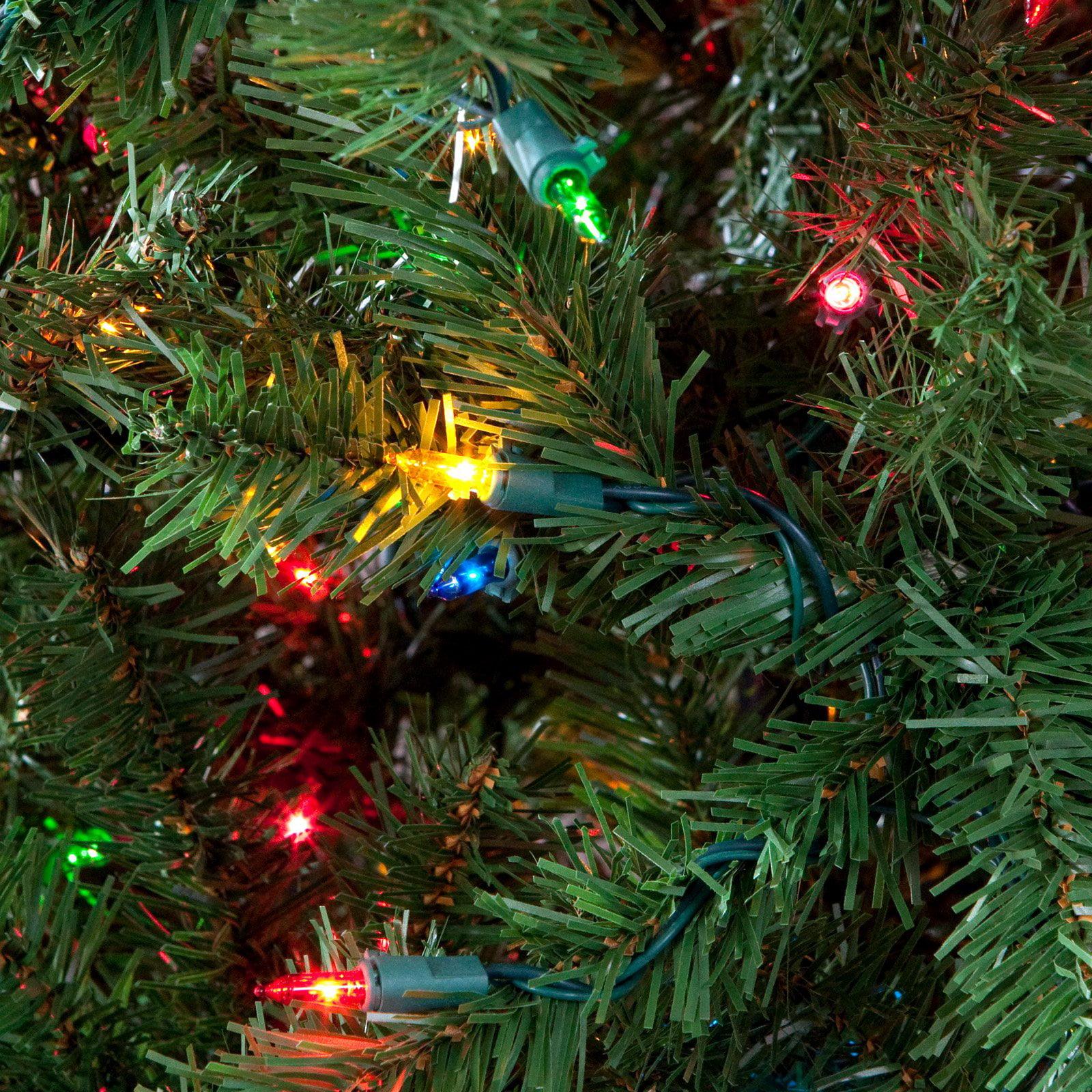 Classic Pine Pre-lit Pencil Christmas Tree - Walmart.com