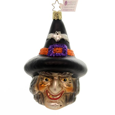 Inge Glas CASTING SPELLS Glass Ornament Halloween Witch 10221S018 (Halloween 111 Cast)