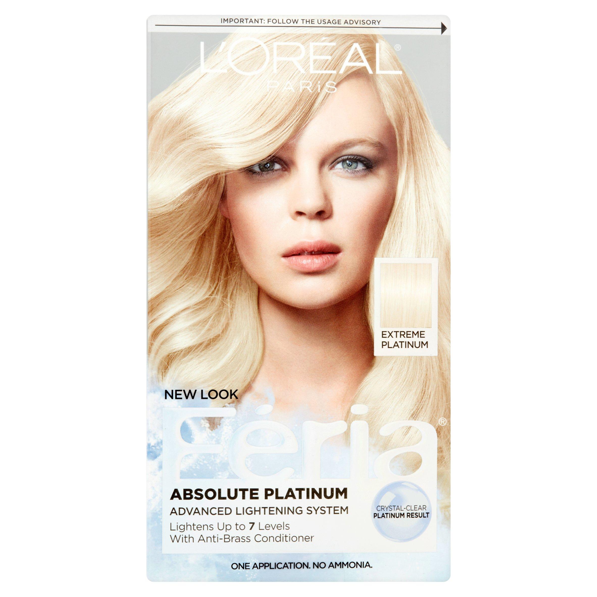 L'Oreal Paris Feria Absolute Platinum Advanced Lightening Haircolor - Walmart.com