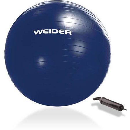 Weider Stability Exercise Ball, 55–75 cm with Included Hand Pump