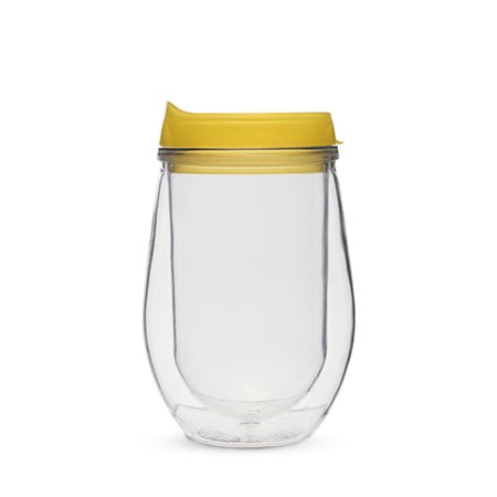 Traveler Double Walled Wine Tumbler in Yellow by True (T Race Yellow)