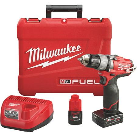 Milwaukee Cordless Drill (Milwaukee M12 FUEL Lithium-Ion Brushless Cordless Drill Kit)