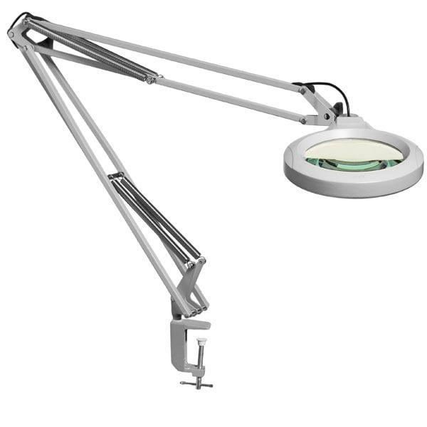 LFM LED Magnifier-45in Arm-3.0D 1.75x-Clamp-Grey