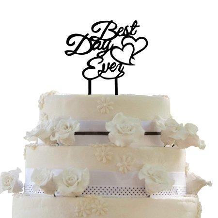 JennyGems Wedding & Anniversary Cake Topper - Best Day