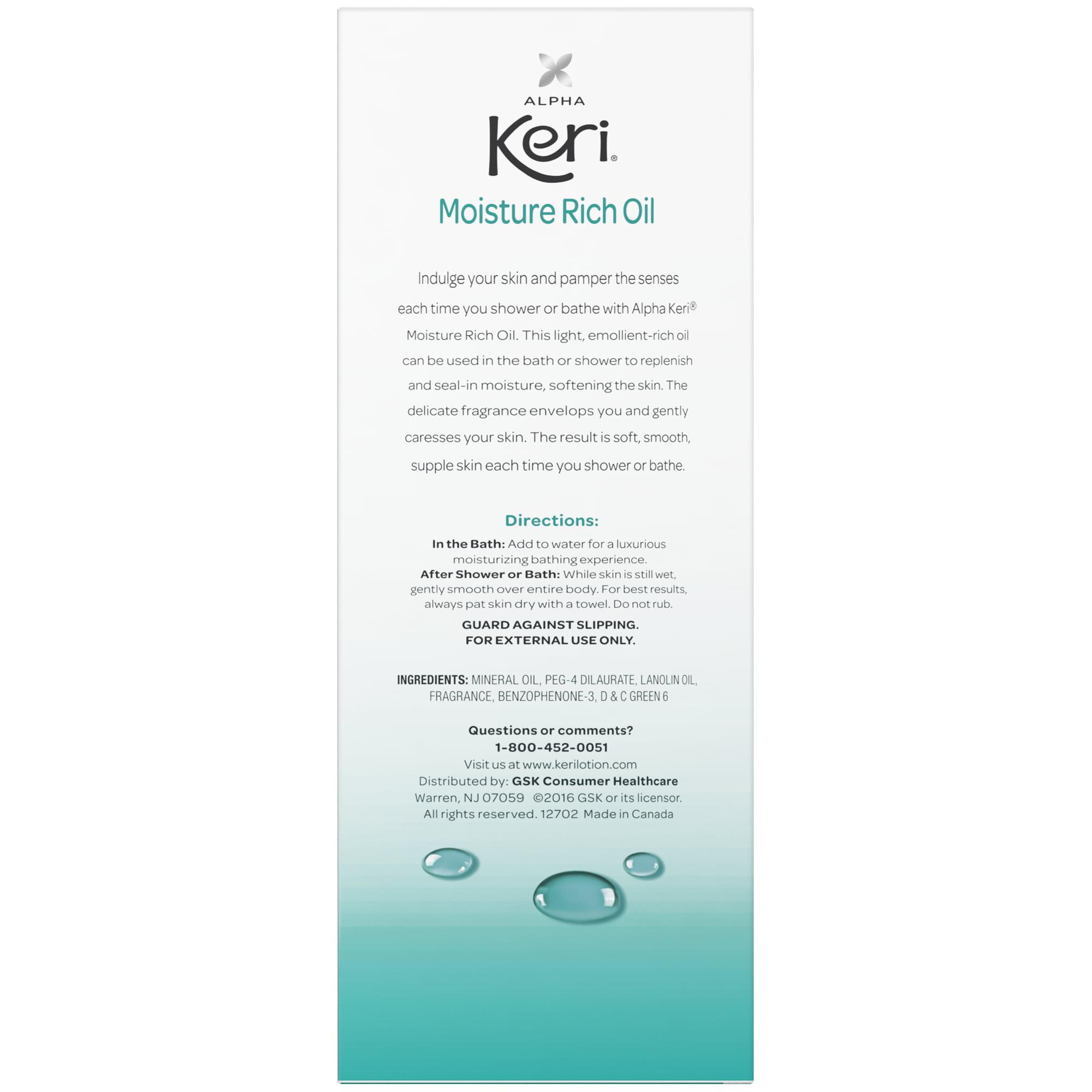 Alpha Keri Shower Bath Moisture Rich Oil 16 Oz