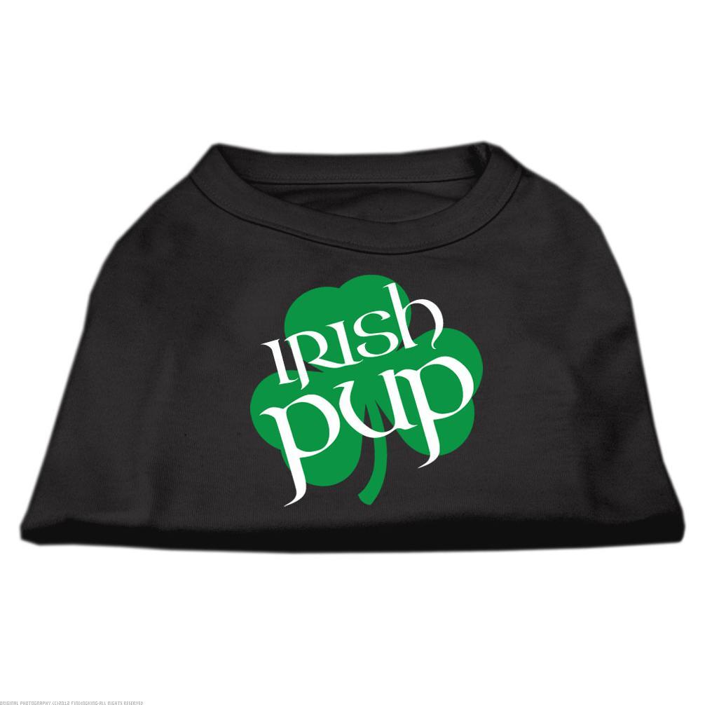 Irish Pup Screen Print Shirt Black  Med (12)