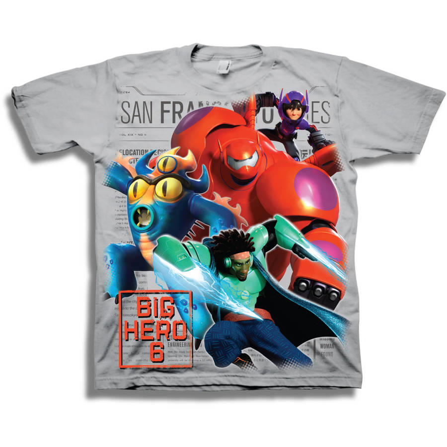 Big Hero 6 Boys Short Sleeve Graphic Tee