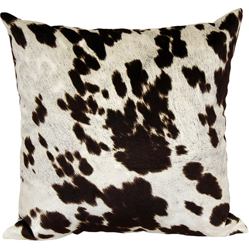 Better Homes and Gardens Faux Hide Decorative Pillow, Multi-Color
