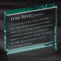 "Personalized Definition of True Love 4"" x 5"" Glass Keepsake"
