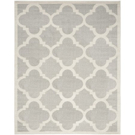 Safavieh Amherst 11 X 15 Power Loomed Rug In Light Gray And Beige