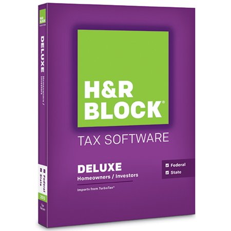 H Block Tax Software Deluxe 2015 Federal Only  New Open Box
