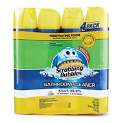 Scrubbing Bubbles Lemon Foaming Bathroom Cleaner - 25 oz. - 4 pk., Kills 99.9% of bacteria By MegaDeal From USA