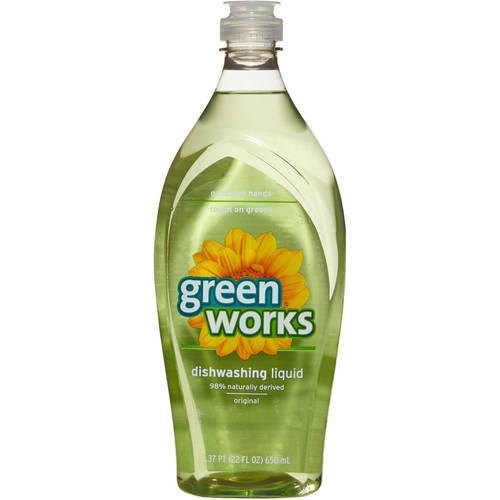 Green Works Dishwashing Liquid, Original Fresh, 22 oz