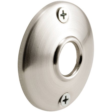 "Prime Line E2542 2-1/2"" Satin Nickel Door Knob Rosettes, 2 Count"