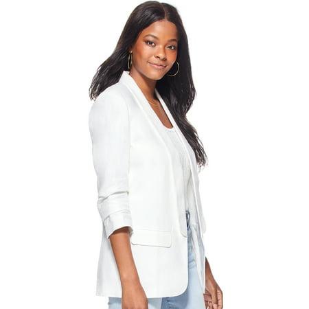 Scoop Women's Scrunched Sleeve Blazer