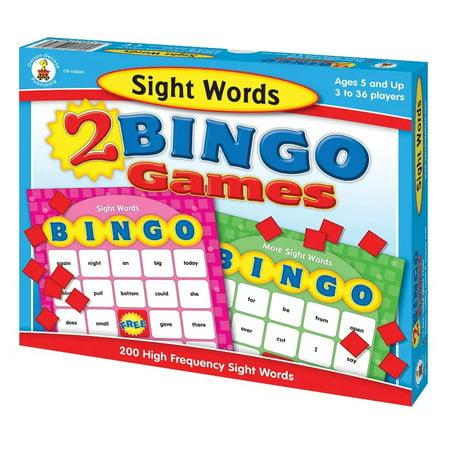 Halloween Word Games For Middle School (Carson Dellosa Education® Sight Words Bingo Board Game, Grade)