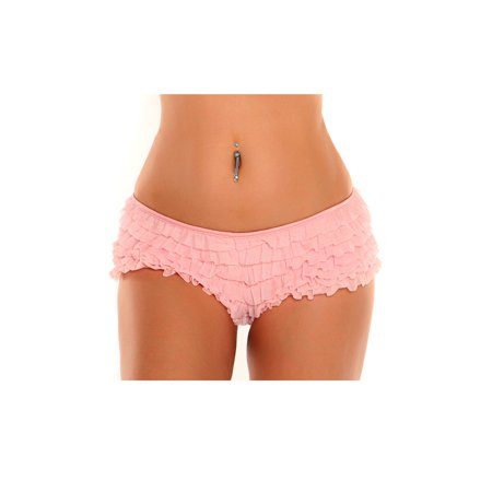 Ruffled Boyshorts Halloween (Plus Size Baby Pink Ruffle Panty With Bow, Plus Size Ruffle)