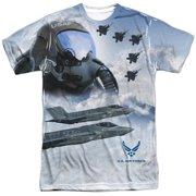 Air Force - Pilot (Front/Back Print) - Short Sleeve Shirt - X-Large