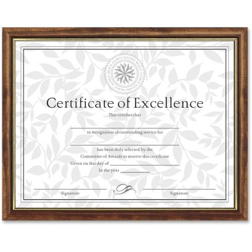 "Dax Two-tone Certificate Frame - 11"" x 8.50"" Frame - Wall Mountable - Vertical, Horizontal Orientation - Solid Wood Mate"