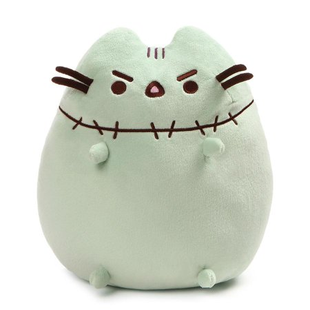 "Gund Zombie Halloween Pusheen Plush, 9.5"" Toy, Green"