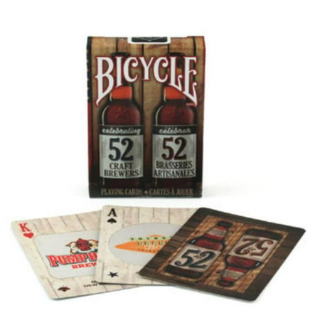 Deck of playing cards from Bicycle styled with craft beer motif