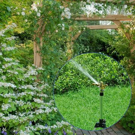 4 Points Garden Watering Sprinkler Triangle Bracket Rotating Nozzle Holder - image 1 de 6