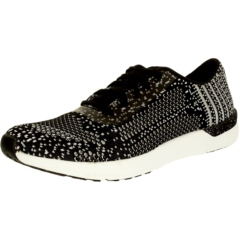 Jessica Simpson Women's Fitt Knit Black/White Ankle-High Fabric Walking Shoe - 6.5M