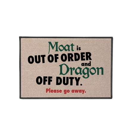 What on Earth Moat Is Out Of Order, Dragon Off Duty Doormat - Fun Welcome - Dragon Door