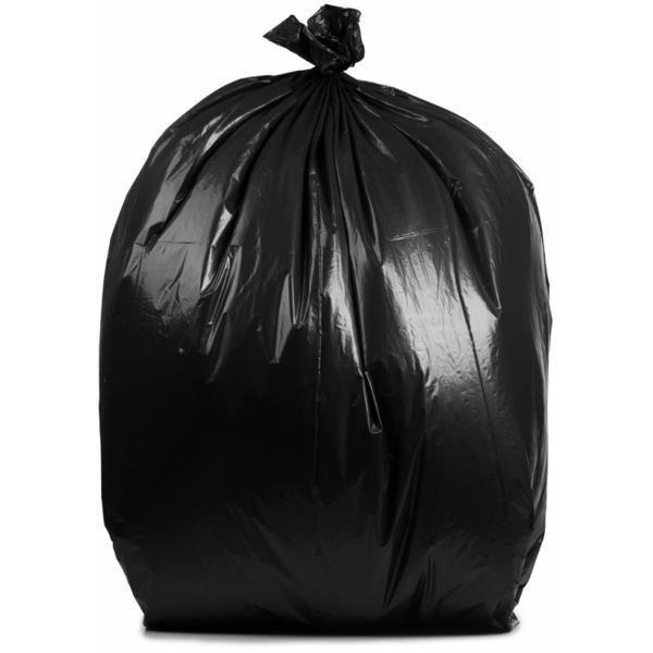 PlasticMill 42 Gallon, Black, 6 MIL, 33x48, 25 Bags/Case, Garbage Bags / Trash Can Liners.