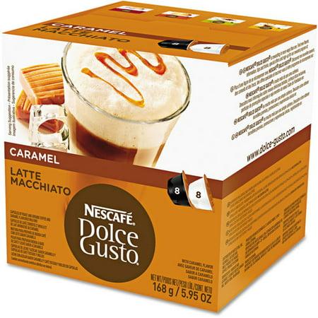 Latte Macchiato Cups (Nestle 02430 Coffee Capsules, Caramel Latte Macchiato, 1.93oz,)