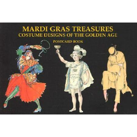 Mardi Gras Treasures : Costume Designs of the Golden Age Postcard Book