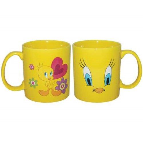 14 Ounce Looney Tunes Tweety Birds Face Design Mug Yellow Walmart Com Walmart Com