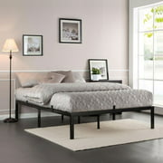 "Jaxpety 14"" High Metal Platform Bed Frame with Under-Bed Storage, Queen"