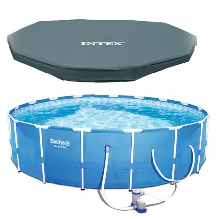 Bestway Steel Pro 12ft x 30in Frame Above Ground Pool Set with Pump and