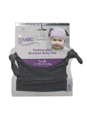 Mod Swad Fashionable Bamboo Baby Knot Hat ~ Choose Size/Color (Medium 14-19 lbs, Metro)