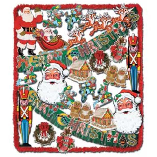 Beistle - 22027 - FR Christmas Trimorama - 24 Pieces