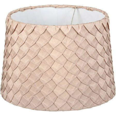 Better Homes & Gardens\xc2\xae Beige Pleated Squares Tapered Drum Shade