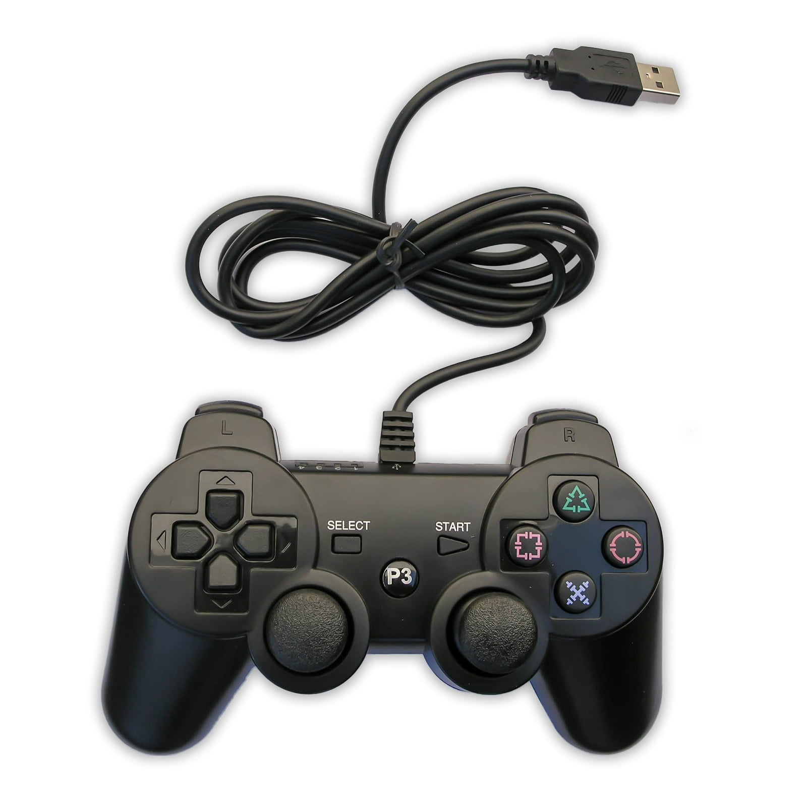 Tomee Mgear Wired Controller for Playstation 3, 9255038M - Walmart.com