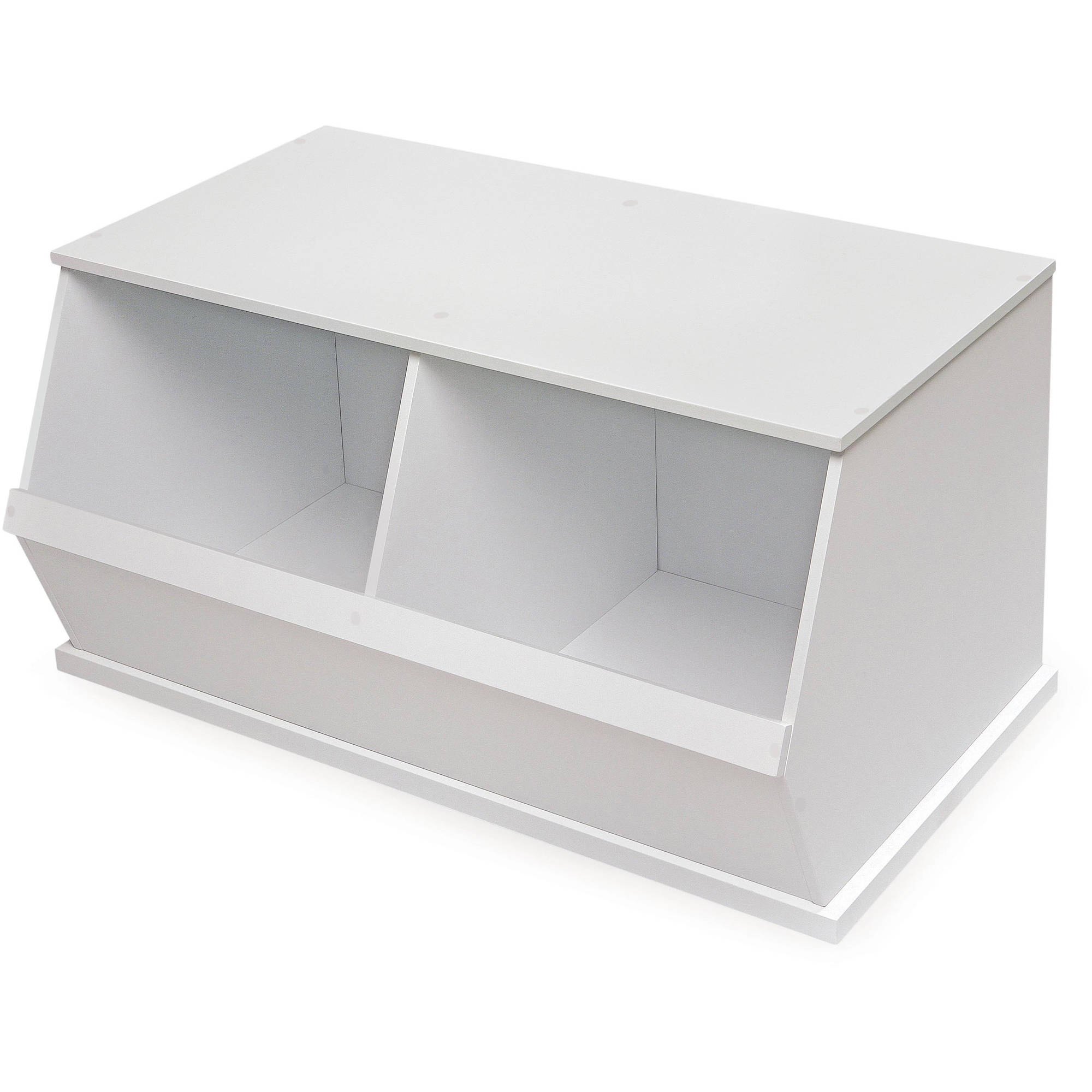 Badger Basket 2-Bin Storage Cubby, White by Badger Basket