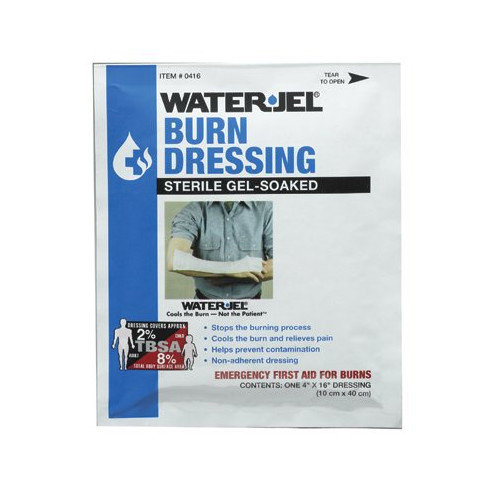 North Safety North Safety - Water Jel Burn Products Water-Jel Dressing4'' X 16'': 068-049076 - water-jel dressing4'' x 16''