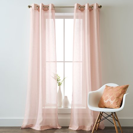 Better Homes and Gardens Metallic Shimmer Grommet Panel Pair](Gold Shimmer Curtains)