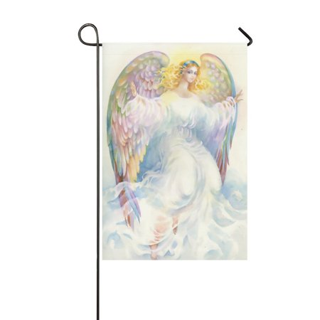 MYPOP Beautiful Angel with Wings Garden Flag House Banner 12 x 18 inch